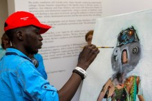 Artists at work during the 2017 edition of ART X Lagos