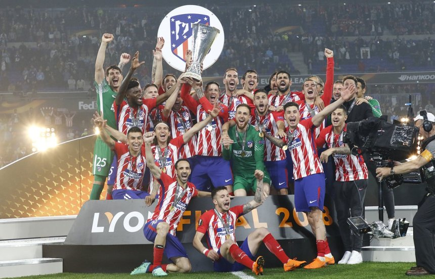 Atletico lifts their 3rd Europa Trophy