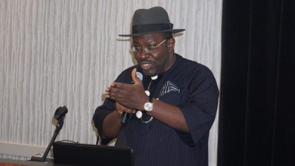 Bayelsa State Governor, Seriake Dickson speaking