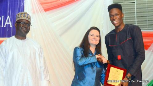 Benedict Egwuchukwu, the overall best graduating student in AUN Class of 2018