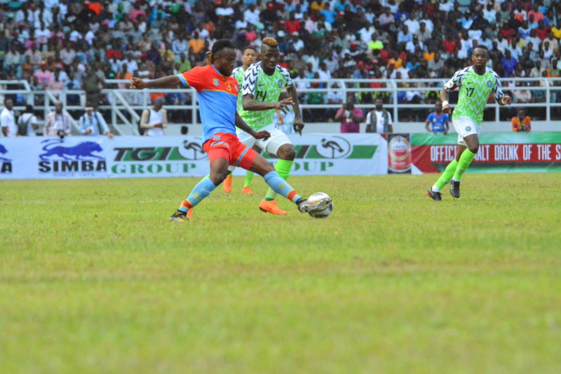 Photo from the International Friendly match between Nigeria and DR Congo on Monday, May 28, 2018.