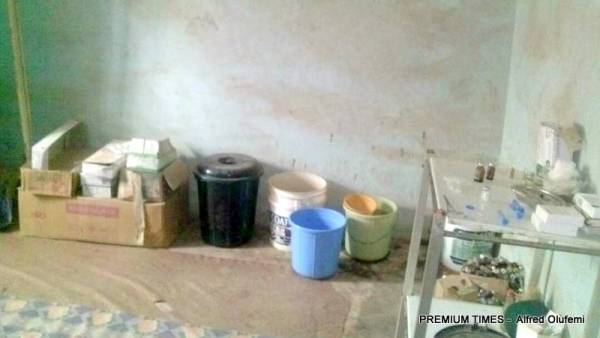 Dusty room used for healthcare service in Egosi