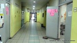 Empty paediatric section at the National Hospital