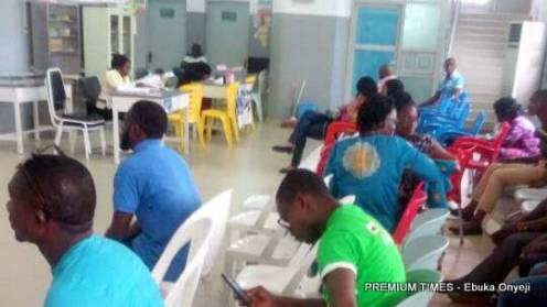 patients sited, awaiting turns at the Federal Medical Centre In Jabi, Abuja.