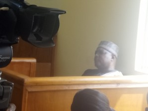 Mr Nyame after the ruling. The governor waited for over 20 minutes before leaving the court room