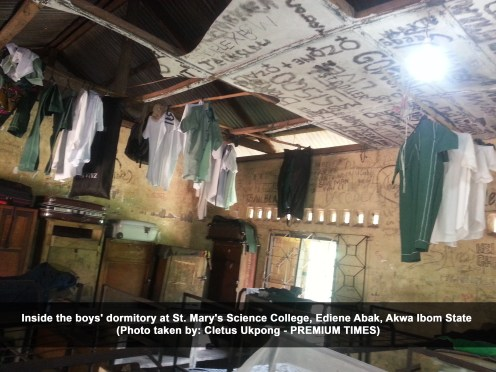 Inside the boys' dormitory at St. Mary's Science College, Ediene Abak, Akwa Ibom State (Cletus Ukpong)