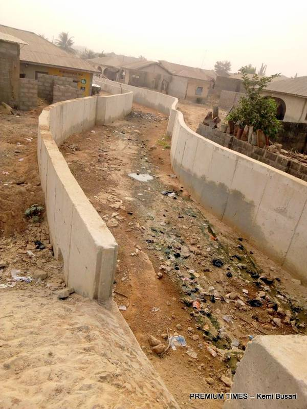 Part of the drainage