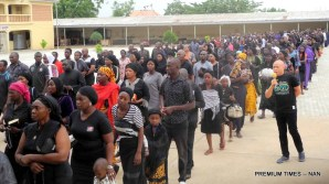 Catholic Priests and other faithful during a peaceful prayerful procession to protest the killing of Catholic Priests and other Christians in Benue State, in Yola on Tuesday (22/5/17).02699/22/5/2018/ICE/NAN