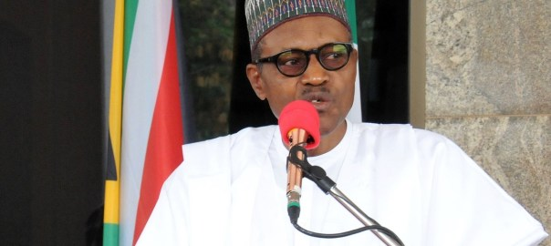 President Muhammadu Buhari speaking