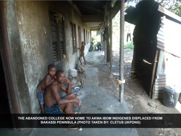 The abandoned college now home to Akwa Ibom indigenes displaced from Bakassi Peninsula