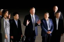Trump welcomes three Americans freed by North Korea