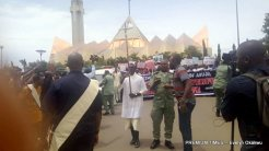 Catholic faithful during a peaceful prayerful procession to protest the killing of Catholic Priests and other Christians in Benue State, in Abuja on Tuesday (22/5/17)