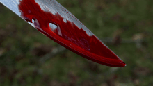 knife with blood used to illustrate the story.