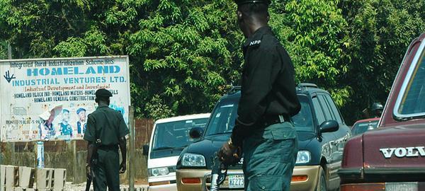 Nigerian Police officers on duty