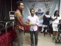 Adekunle Adebajo receiving the award for the Best Opinion piece.