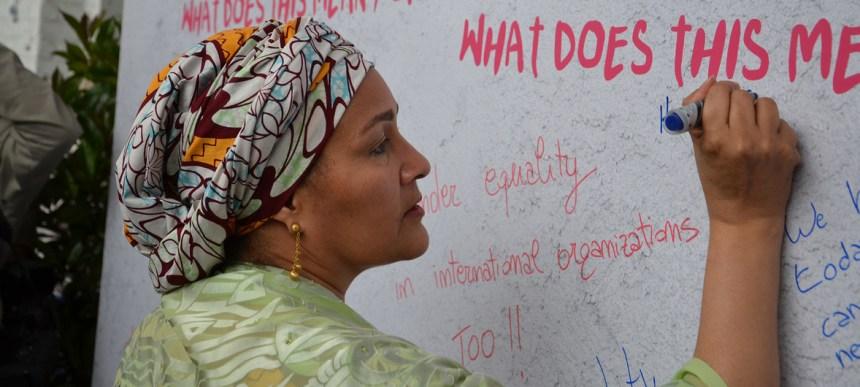 Amina Mohammed, UN Deputy Secretary-General.