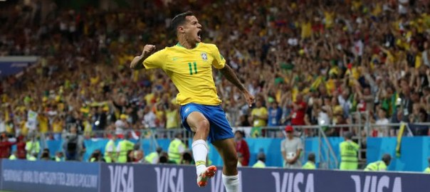 Coutinho celebrates (Photo Credit: Reuters)