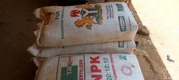 Bags of NPK Fertilzer