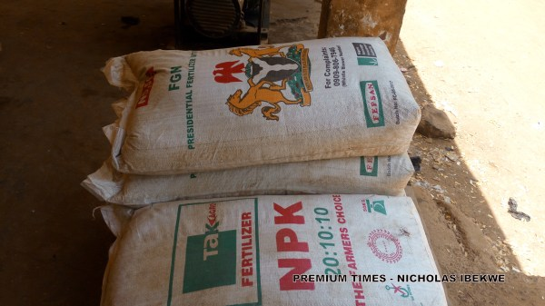 Bags of NPK Fertiliser