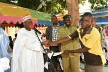 Kano State Governor, Abdullahi Ganduje at the Kano Central Prison