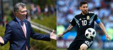 Argentine president, Mauricio Macri and Lionel Messi
