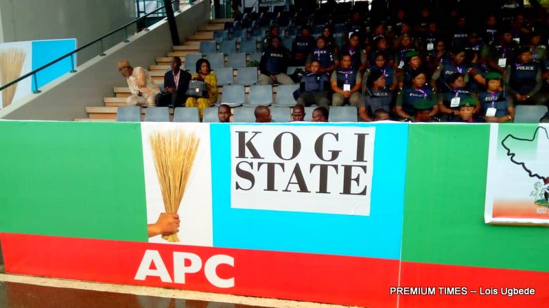 Kogi State delegates section occupied by officers of the Police Force at the APC National Convention