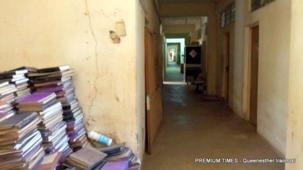 An empty hallway.