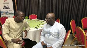 From L-R Mr Abdulaziz Abdulaziz, Associate Editor Premium Times and Mr Dapo Olorunyomi, publisher of Premium Times