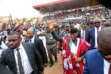 Vice President, @ProfOsinbajo in Ekiti for the flag off of the APC Gubernatorial Campaign for Dr. Kayode Fayemi.
