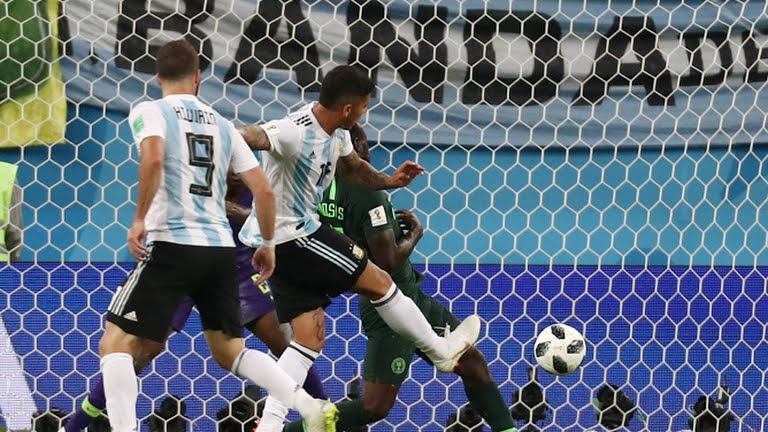 Marcos Rojo's goal against Nigeria's Super Eagles