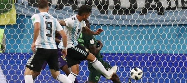 Marcos Rojo's goal against Nigeria's Super Eagles