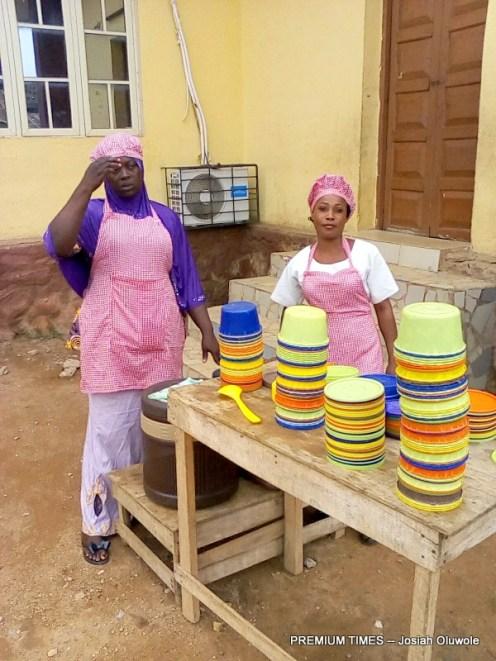 Vendor at UNA School Ibadan