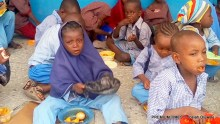 File photo of pupils at a school where the School feeding programme is being implemented