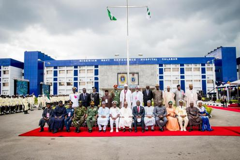 President Buhari commissions Nigerian Navy Reference hospital and 100 Naval Housing Units in Calabar on 26th June 2018