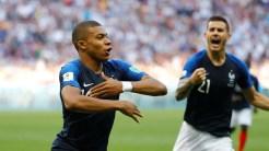 Kylian Mbappe celebrates his goal against Argentina (Photo Credit: Reuters)