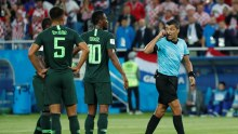 The Nigeria vs Croatia match. The Super Eagles lost the match by 2 goals to nil. (Photo Credit: Reuters)