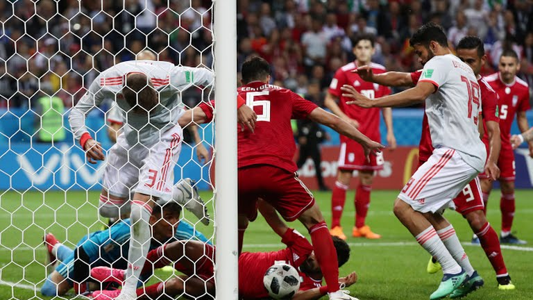 Iran vs Spain (Photo Credit: Reuters)