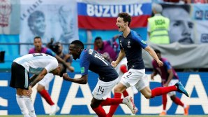 Benjamin Pavard puts France level with Argentina