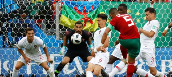 Morocco's Benatia last attempt on goal