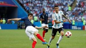Benjamin Pavard puts France level with Argentina (Photo Credit: Reuters)