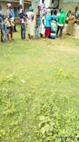 Efon ward 5,unit 016 open place ijao-ijao , voting in progress, Efon Alaye 11:20am.
