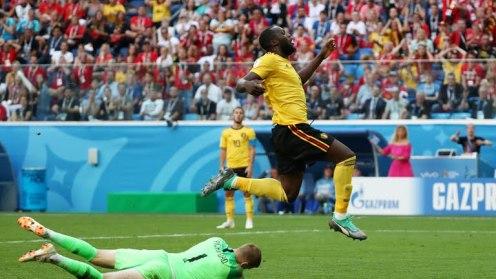 Belgium - England Lukaku and Coutour