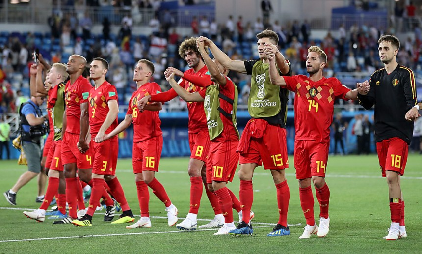 Belgium players celebrates at their last first round match (Photo Credit: www.foxsportsasia.com)