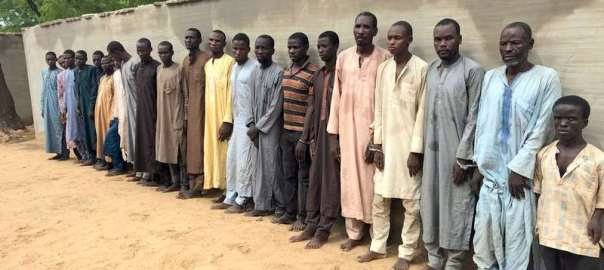 Boko-Haram Commander and other members Involved in Abduction of Chibok Girls paraded by the Police