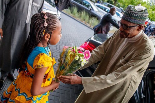 Buhari arrives Netherlands 1