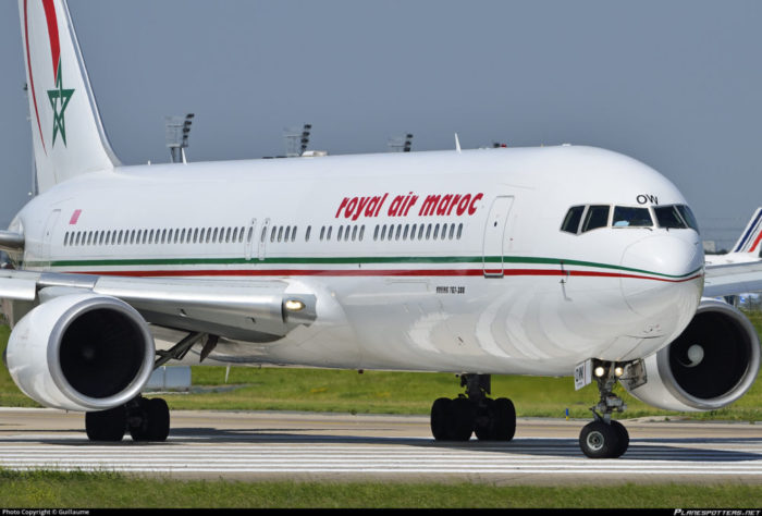 A Royal Air Maroc flight with registration number CN-RNQ returned to the Lagos airport Sunday morning after the pilot discovered that the cargo door light flickered.