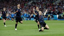 Croatia celebrates after winning the penalty shootout (Photo Credit: Reuters)
