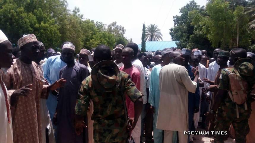 Residents gathered at the Dutse Municipal Council Hall