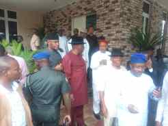Senators at Deputy Senate President, Ike Ekweremadu residence