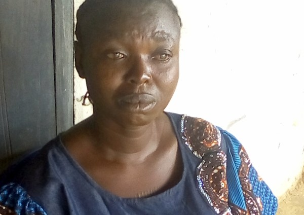 A PDP agent beaten by thugs for standing at the voting area of polling unit 9, ward 8. She alleged that she was attacked because she had refused to dump the PDP for APC